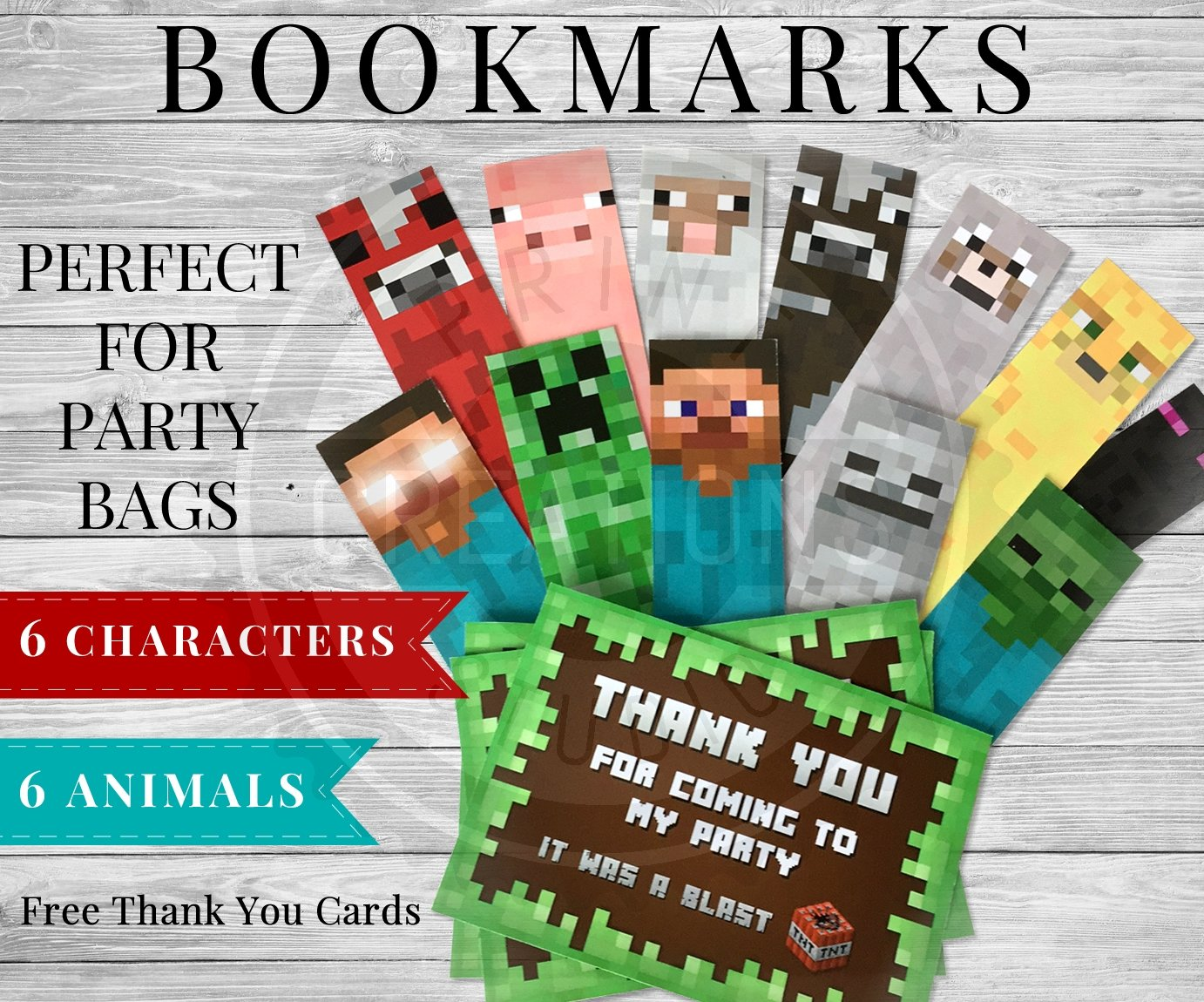 It is a picture of Divine Minecraft Bookmarks Printable