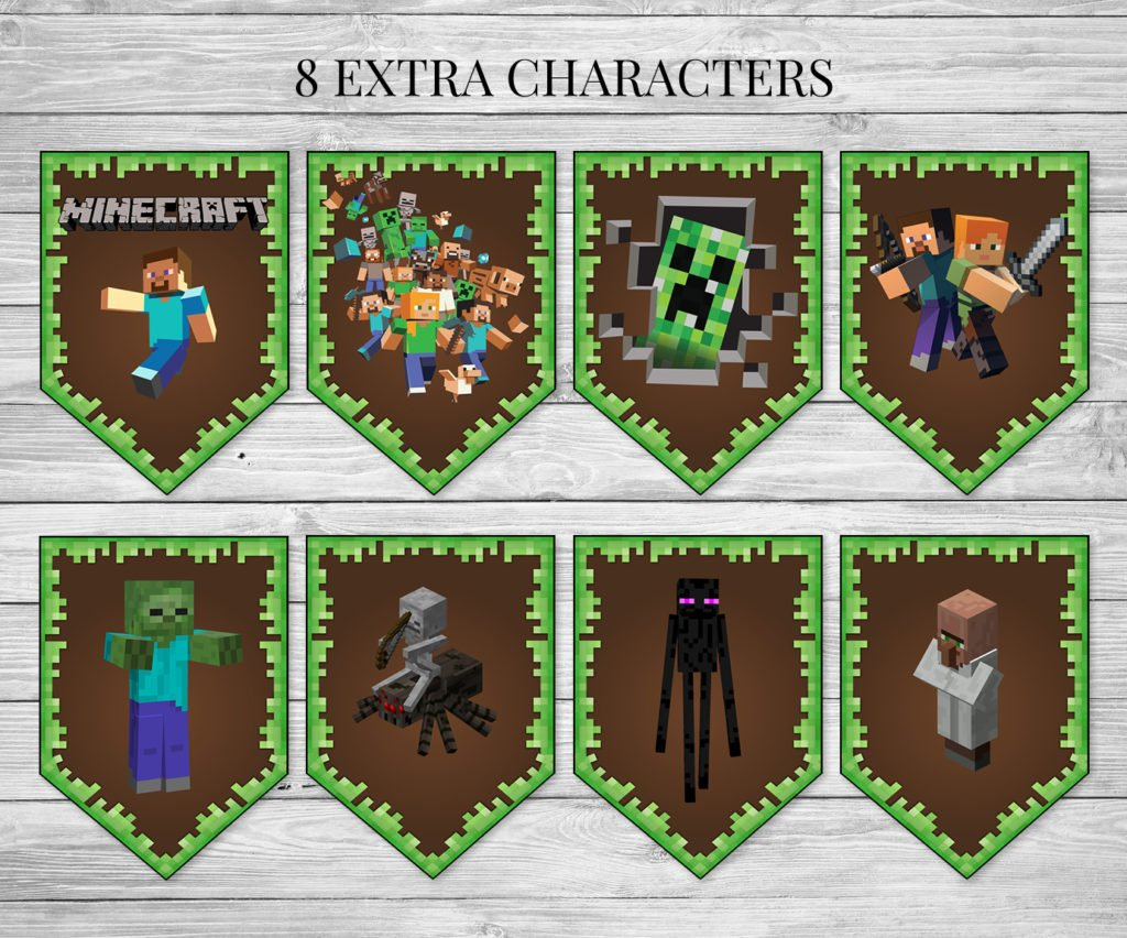 It is a graphic of Exceptional Minecraft Free Printable