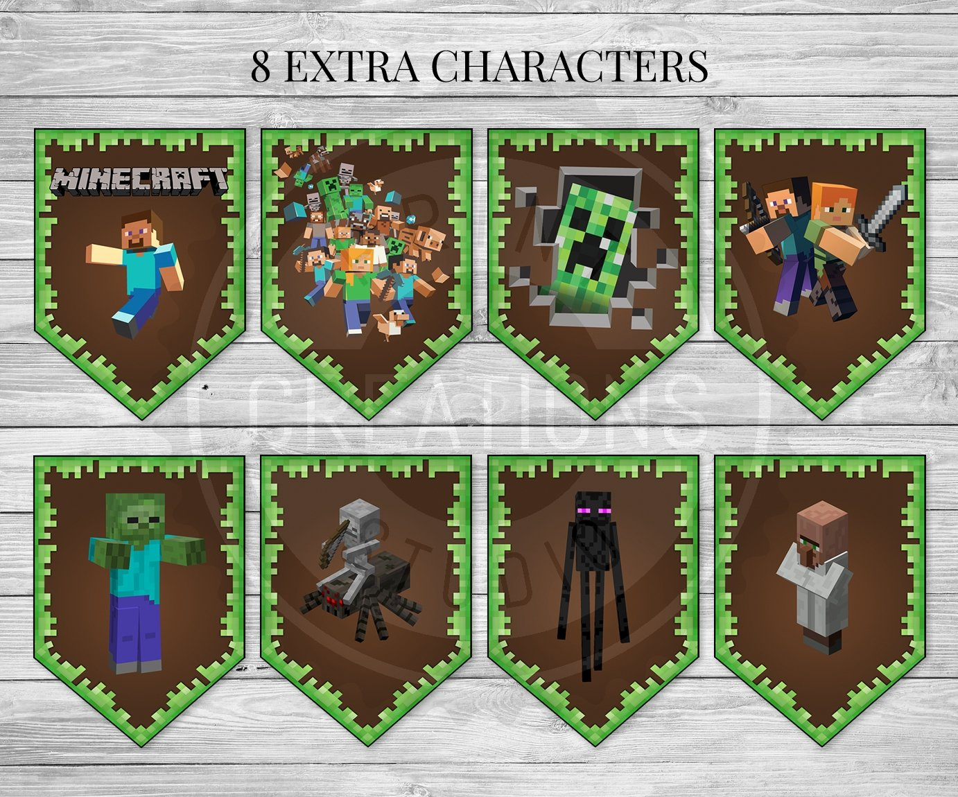 It is a photo of Minecraft Party Ideas Printable pertaining to pinterest