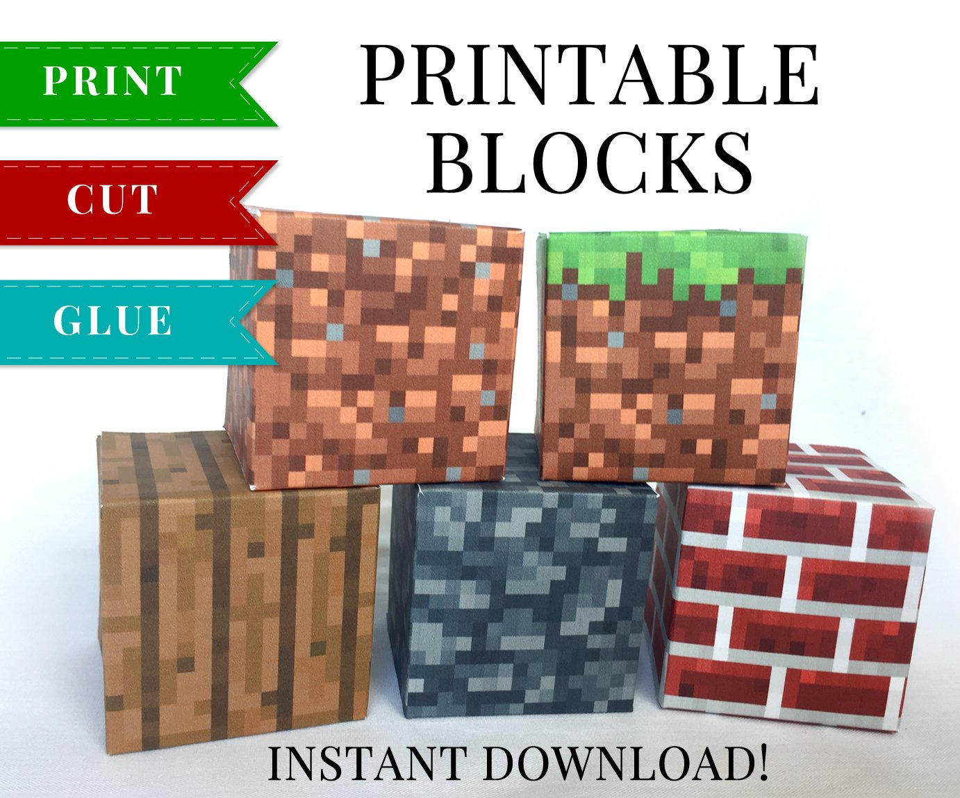 It's just an image of Ridiculous Minecraft Papercraft Printable