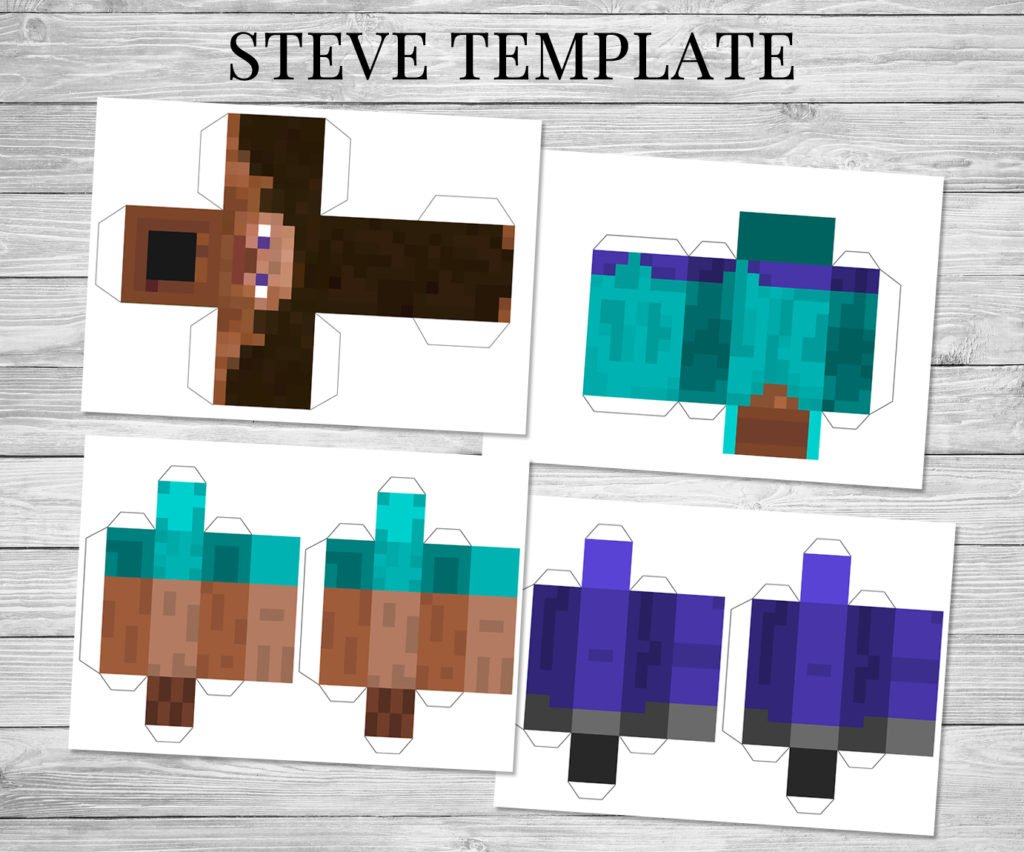 Resource image with regard to minecraft steve printable