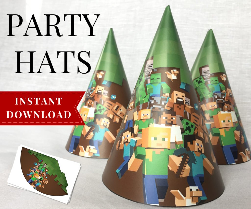 complete printable minecraft party pack
